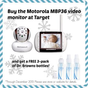 Buy the Motorola MBP36 Video Monitor and get free bottles!