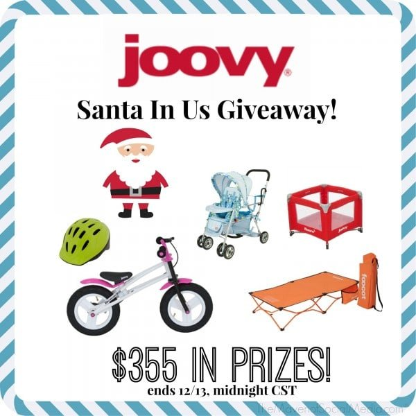 Win a Joovy Prize Package worth $355! #SantaInUs