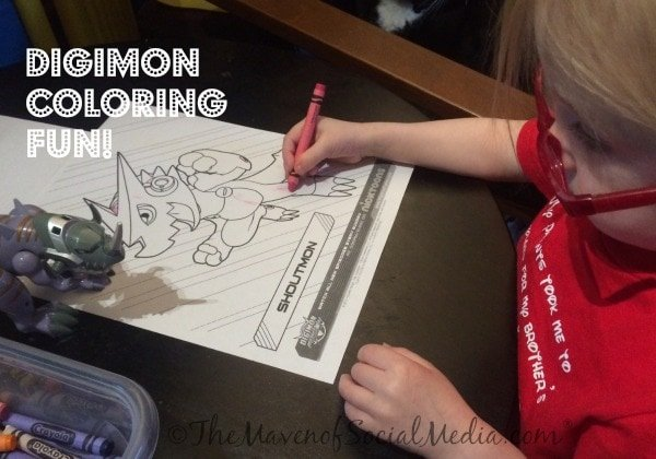Coloring Digimon Fusion - Printables Available! - The Maven of Social Media®