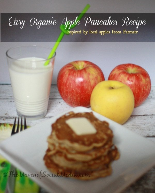 Sponsored: Organic Apple Pancake Recipe (Thanks @TheFarmstrs)