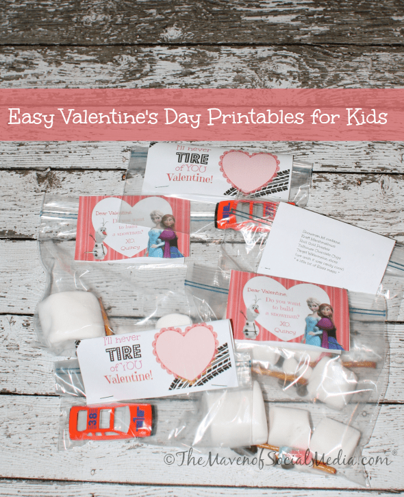 Easy Valentine's Day Printables for Kids ~ The Maven of Social Media®