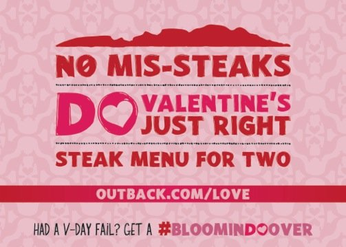Outback Steakhouse : The Perfect Valentines Meal