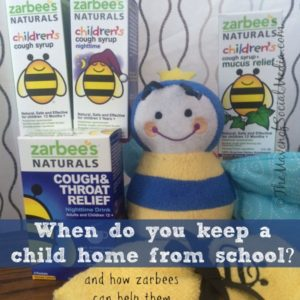 When do you keep a child home from school #ZarbeesCough #MC TheMavenofSocialMedia.com®