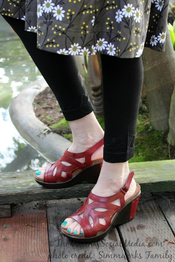red dansko sandals