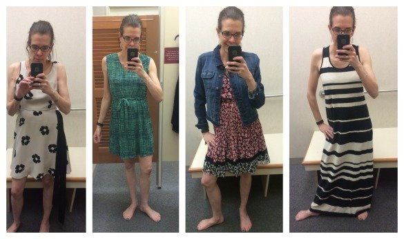 Four other dresses I tried