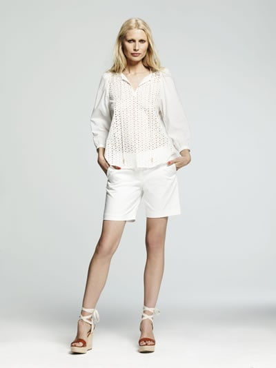 Peter Som Collection for DesigNation eyelet drawstring top