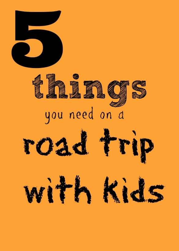 5 things you need on a road trip with kids