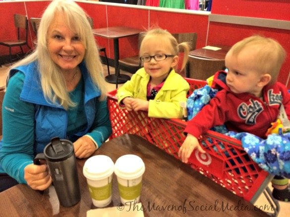 Family enjoying Starbucks