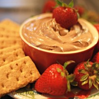 Strawberry in Chocolate Cheesecake dip