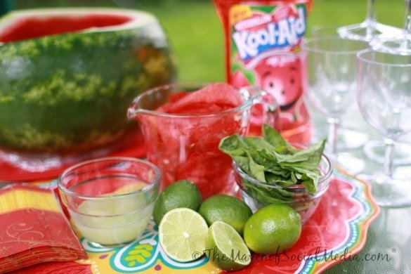 Summer Drink Recipe - Watermelon Basil Lime Cocktail #KoolOff #Cbias #Shop