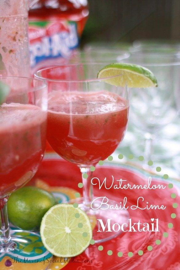 Watermelon Basil Lime Mocktail