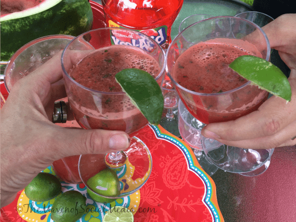Watermelon Mocktail toast #KoolOff #Cbias #Shop