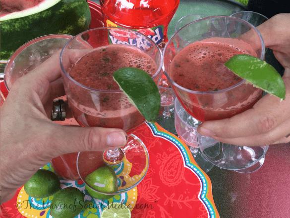 Watermelon Mocktail toast