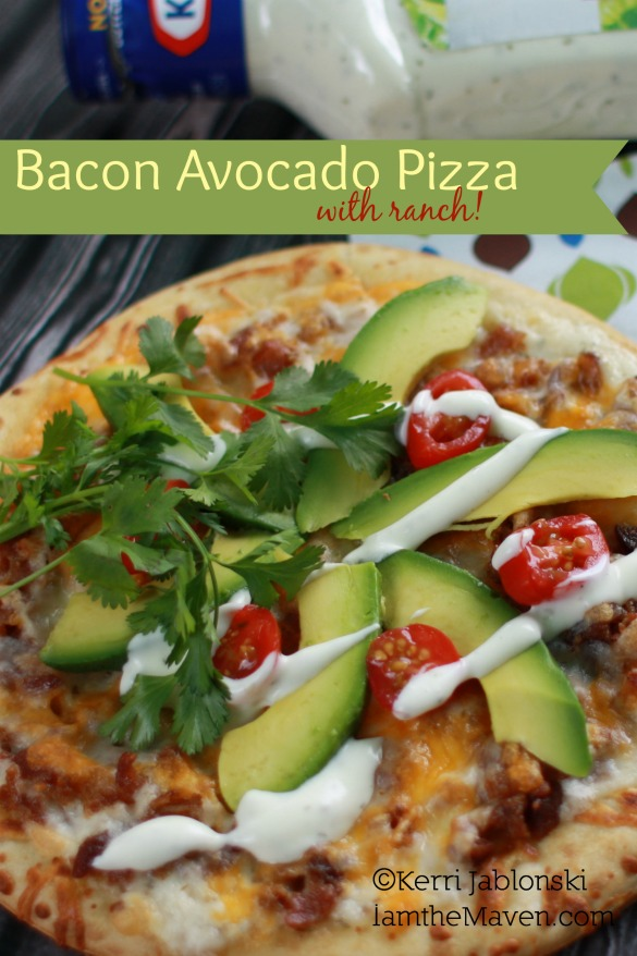 Try this Bacon Avocado Pizza with ranch!