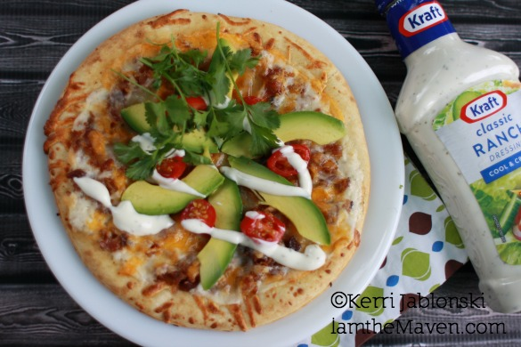 Bacon Avocado Pizza with Kraft Creamy Ranch #FoodDeservesDelicious #shop