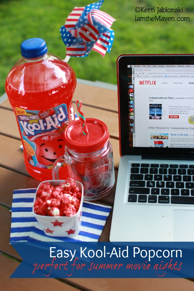 Easy Kool-Aid Popcorn - perfect for summer movie nights #KoolOff #Shop #Cbias