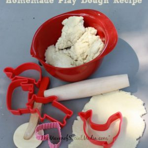 Easy Homemade Play Dough Recipe – No stove required!