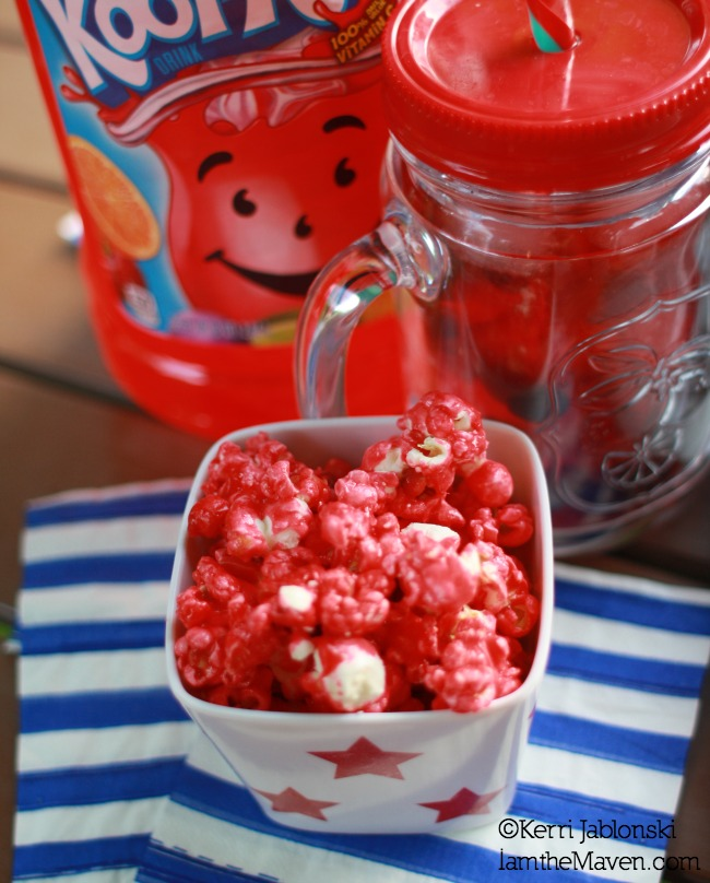Kool-Aid Popcorn (and a mocktail) #KoolOff #shop #cbias