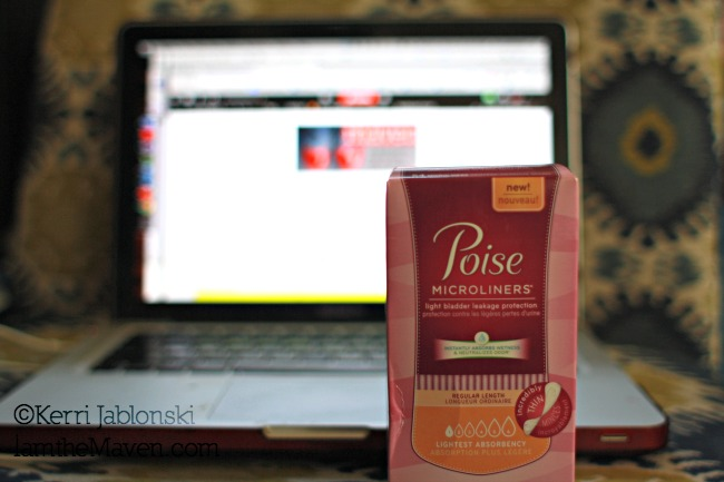 Thank goodness I have Poise for light bladder leakage when reading my friends blogs! #PoisewithSAM #Sponsored
