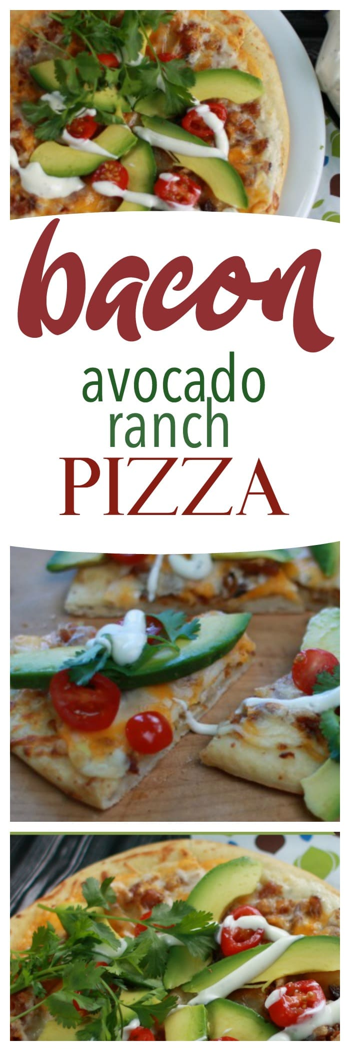 This quick bacon avocado pizza takes just minutes!
