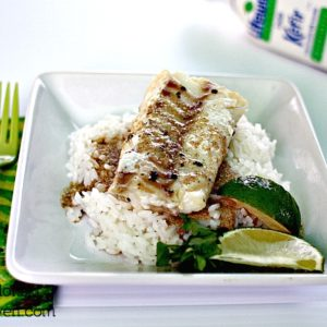 Grilled Cod with Lime and Lemongrass Kefir Curry Sauce