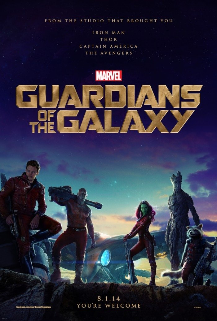 Guardians of the Galaxy opens everywhere August 1