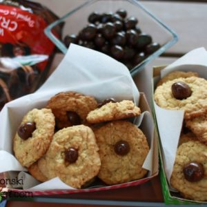 Oatmeal Walnut Cookies with Chocolate Covered Fruit {dark chocolate recipes}