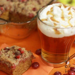 Fall recipes: Apple Pumpkin M&M's Crumble Cake and Cider