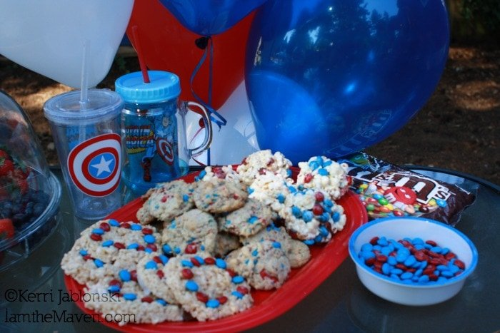 Easy M&M Recipes for Back to School with Captain America