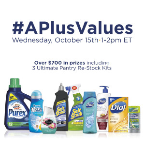 RSVP for the #APlusValues Twitter Party Oct 15th at 1pm ET