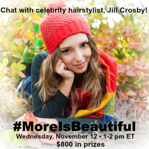 #MoreisBeautiful Twitter Party November 12 1-2pm ET #ad