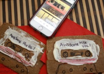 Mix tape cookies and the Guardians of the Galaxy Soundtrack! #OwntheGalaxy #ad #cbias