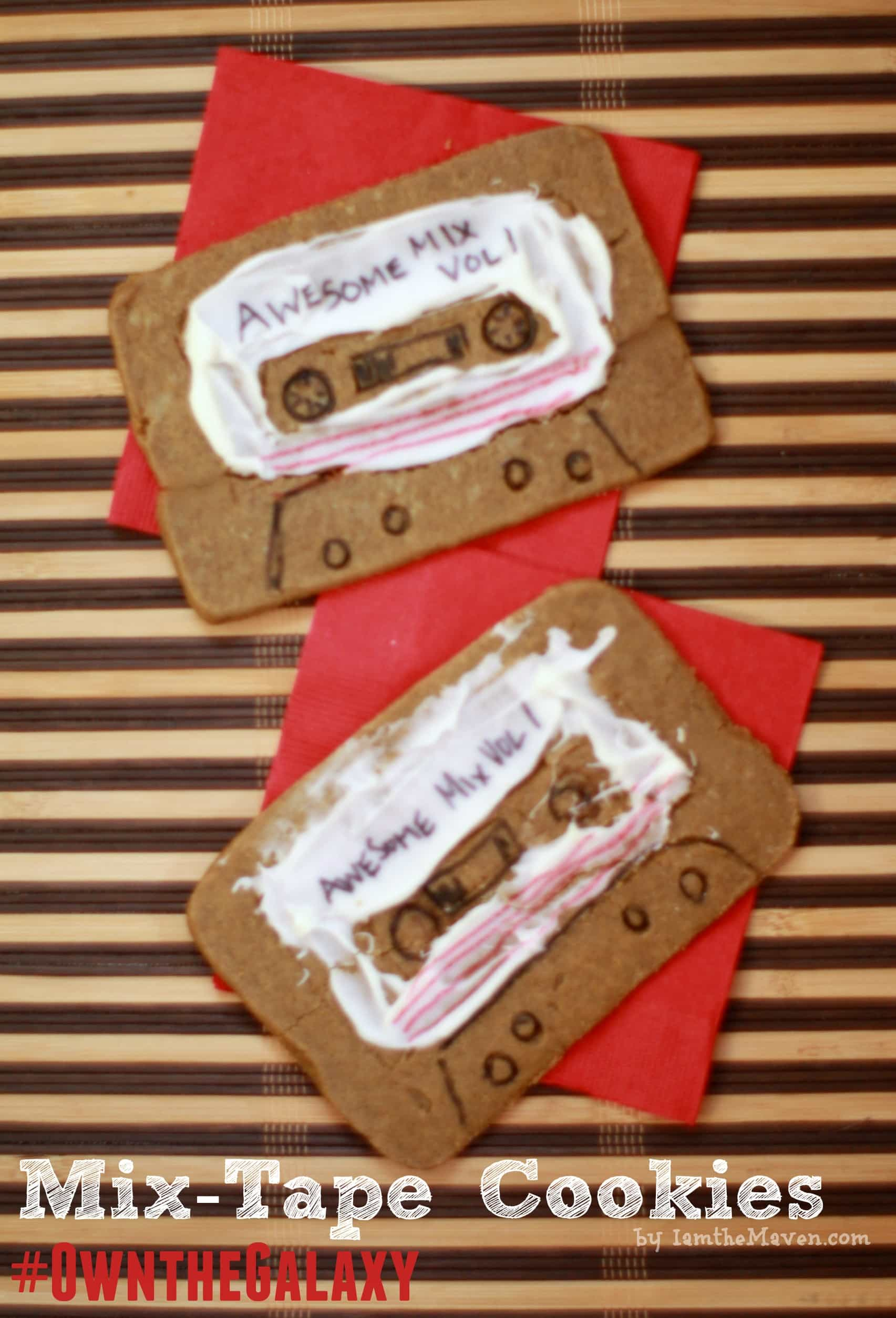 Make these fun mix tape cookies for your Guardians of the Galaxies movie night #OwntheGalaxy #ad #cbias
