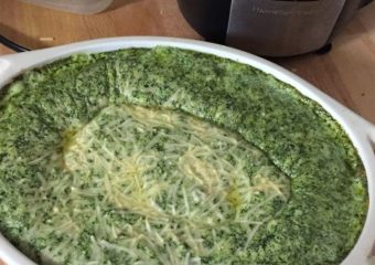 My famous spinach dip, and my new food processor!