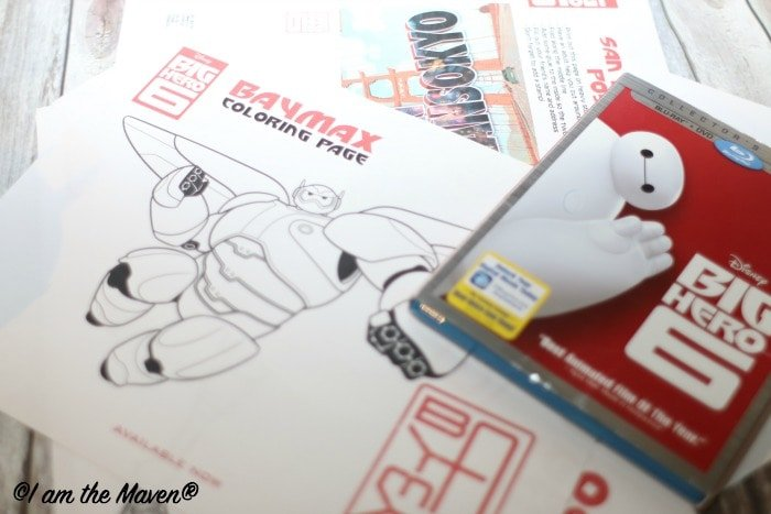 Free Big Hero 6 Printables #BigHero6MovieNight #ad