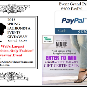 Spring Fashionista 2015: Win a $125 Fashion Shopping Spree!