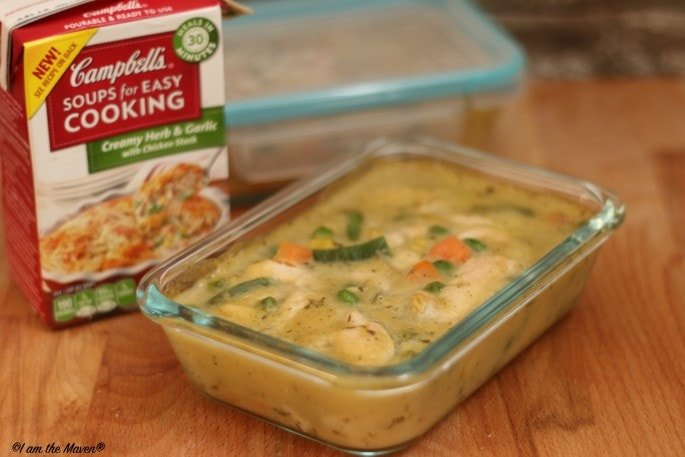 Try this crustless chicken pot pie for lunch #WeekNightHero #ad
