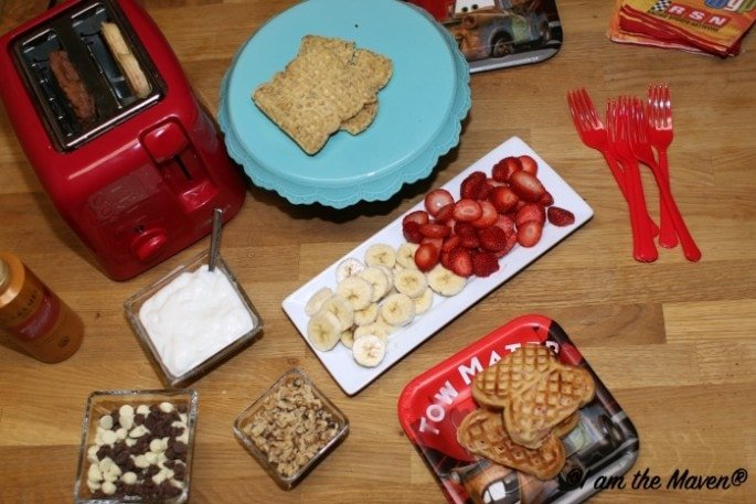 Party supplies make your waffle bar fun! #EggoWaffleBar #ad