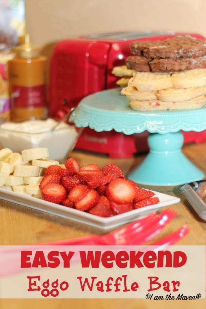 Set up an Easy Weekend Eggo Waffle Bar #EggoWaffleBar #ad
