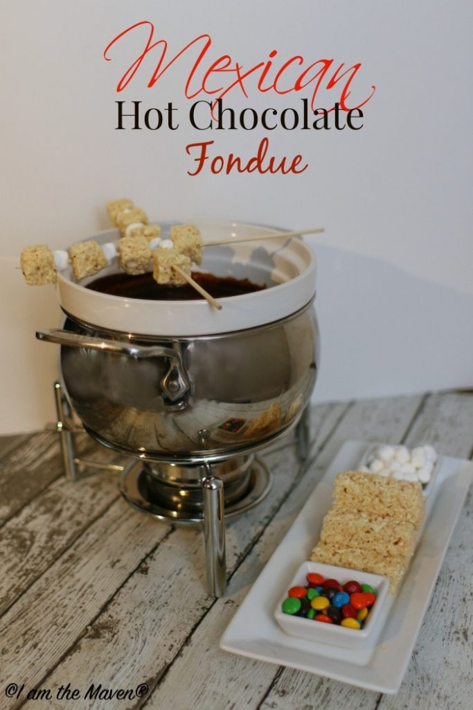 Yummy Mexican Hot Chocolate Fondue #KreateMyHappy #ad