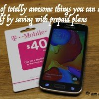 A list of totally awesome things you can do for yourself by saving with prepaid plans #SimplyPrepaid #ad