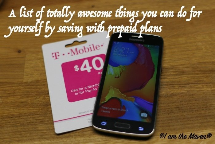 A list of totally awesome things you can do for yourself by saving with prepaid plans #ChangingPrepaid #ad