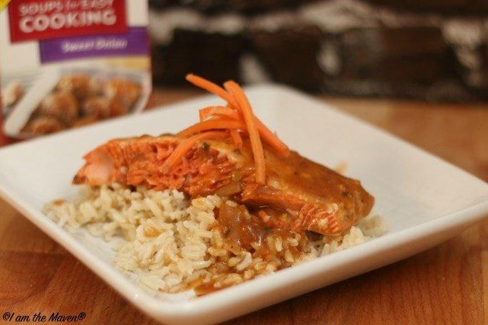 Sweet Onion Salmon #WeekNightHero #ad