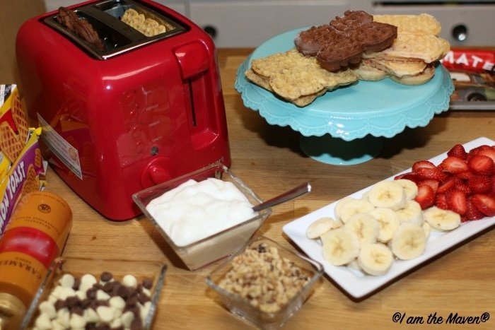 Waffle Bar toppings from what's already in your kitchen! #EggoWaffleBar #ad