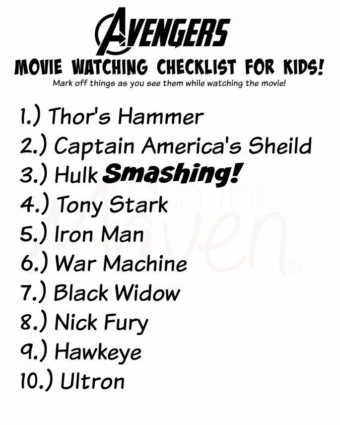 The Avengers check list #AvengersUnite #ad