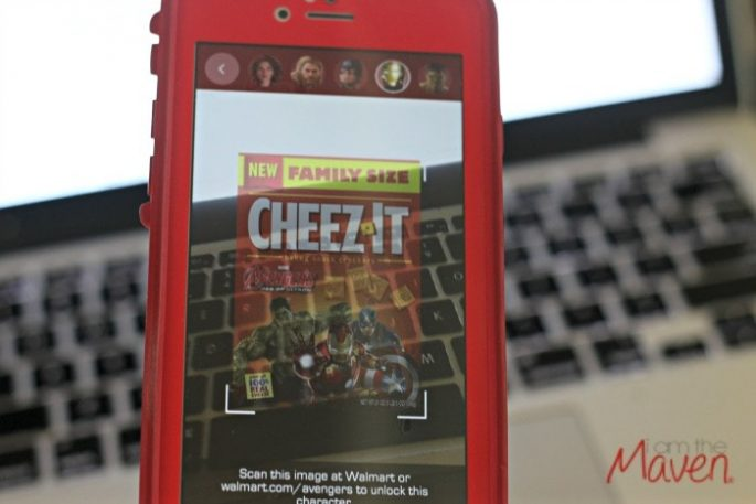 Scan your CheezIt box with your Super Heroes Assemble app! #AvengersUnite #ad