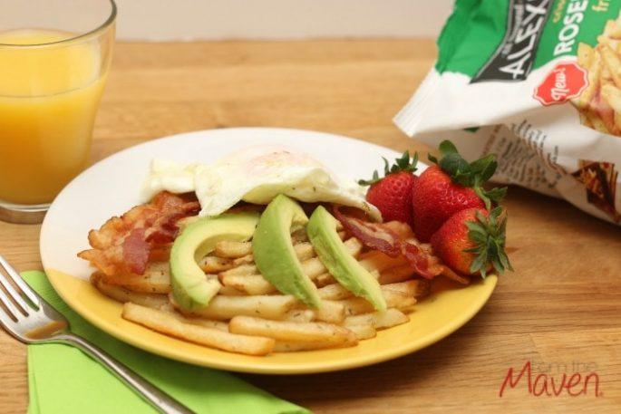 Easy and delicious breakfast fries #SpringIntoFlavor #ad