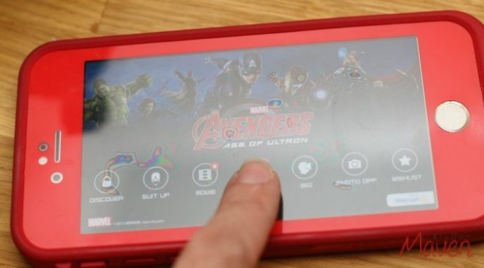 Using the Super Heroes Assemble app is easy #AvengersUnite #ad