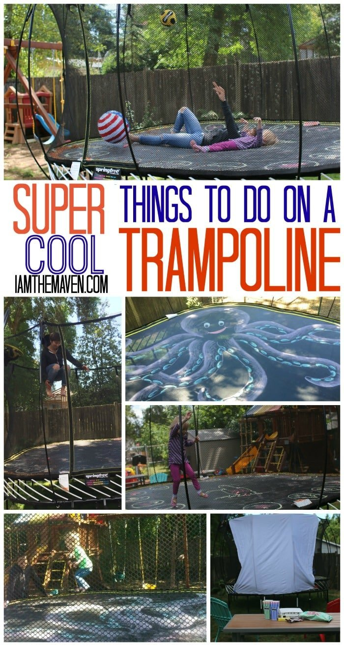 Lots of fun ideas of things to do on a trampoline!