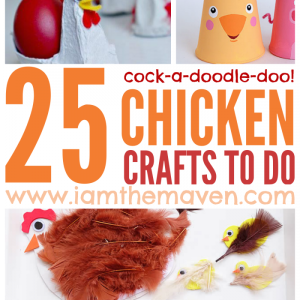 Who doesn't love chickens? Here are 25 fun chicken crafts to do! Cock-a-doodle-do!